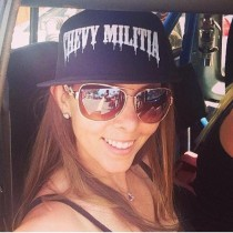 black chevy militia trucker hat