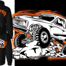 orange k5 blazer hoodie