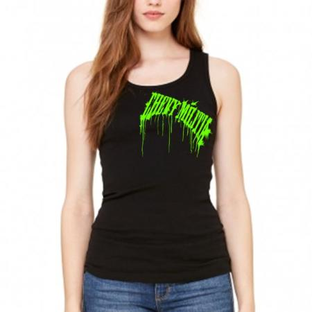 Green Drip Women Chevy Militia Tank