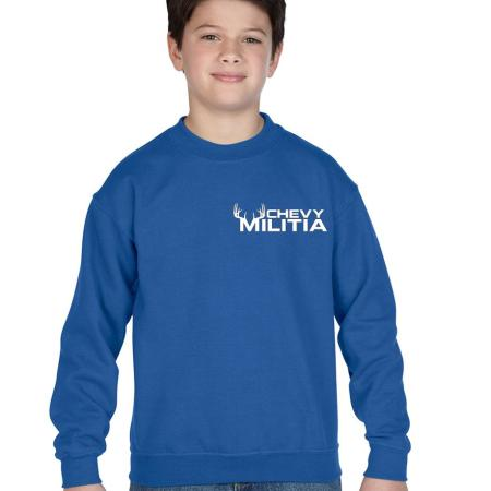 Chevy Militia Kids Buck Crewneck