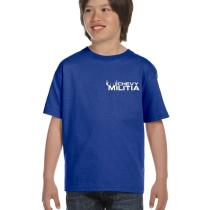chevy militia kids blue t-shirt