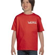 chevy militia kids red t-shirt