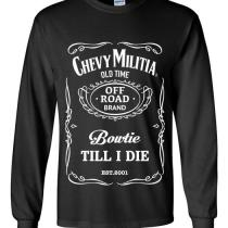 long sleeve whiskey chevy militia t shirt