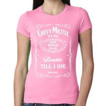 Chevy Militia Ladies Pink Whiskey Perfect Tee