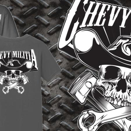 Chevy Militia Piston Tshirt