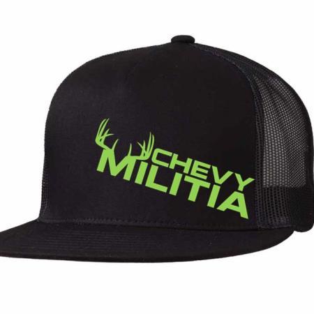 lime green buck trucker hat