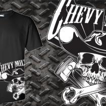 Chevy Militia Side Piston Tshirt