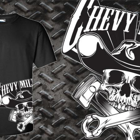 Chevy Militia Side Piston Tshirt