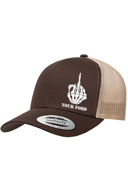 Middle Finger Curved Trucker Hat - Chevy Militia fdb576975e7